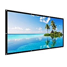 100'' Projector Screen Foldable Portable Projection Movie Home Theater 16:9 4:3