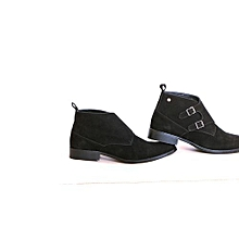 Black Classic Mens Suede Boots