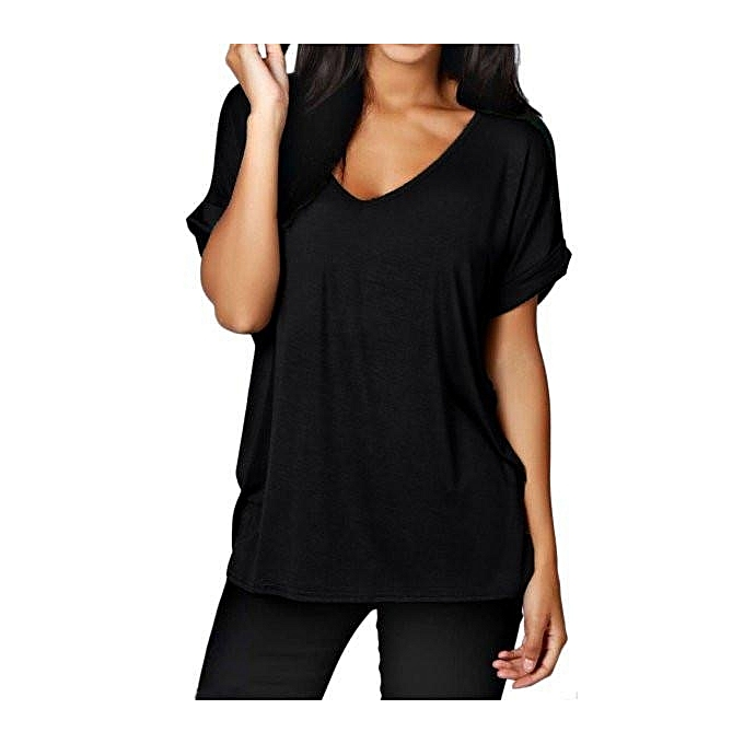 954ce828 New Arrival Women Casual Basic Cotton T-Shirt Summer Ladies Fashion Short  Sleeve V-