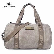 Women Barrel Travel Bag PU Handbags Top-Handl