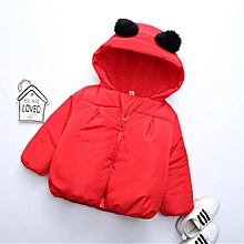 b9b602687 Children Coat Baby Girls Winter Coats Long Sleeve Coat Warm Baby Jacket red