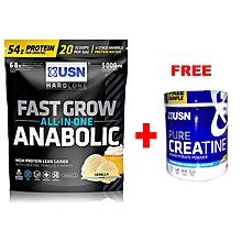 Fast Grow Anabolic, 1kg - Vanilla With Free Creatine 150g