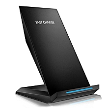 Qi Wireless Charger For iPhone X 8 8 Plus quick Wireless Charging Dock Stand For Samsung Note 8 5 S9 S8 Plus S7 S6 Edge Dock - Black