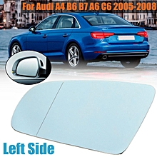 New Left Blue Rearview Mirror Glass For Audi A4 B6 B7 A6 C6 2005-2008