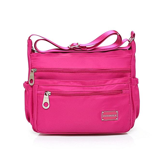 ... Large Multilayer Zipper Pockets Light Shoulder Bags Nylon Waterproof Crossbody  Messenger Bags ... e397650ea2f97