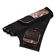 3 Tube Hip Quiver Archery Arrows Holder Bag with Adjustable Waist Belt Black