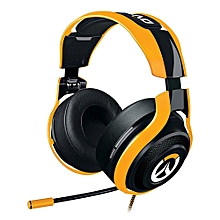 Analog Gaming Headset with Mic for PC/Mac/PS4 - Black + Yellow