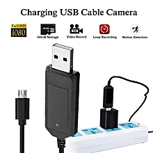 HD 1080P Hidden Camera Phone Power Cable Camera Audio DVR Motion Detection for Android Black & 32g