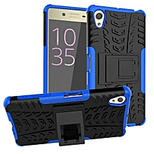 "For Xperia X Case, Hard PC+Soft TPU Shockproof Tough Dual Layer Cover Shell For 5.0"" Sony F5122, Blue"