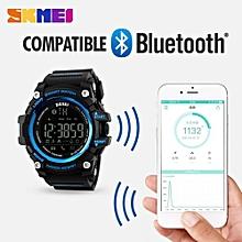 Skmei [100% Genuine] SKMEI Men Smart Watch Pedometer Calories Chronograph Fashion Sport Watches Chronograph 50M Waterproof Digital Wristwatches 1227