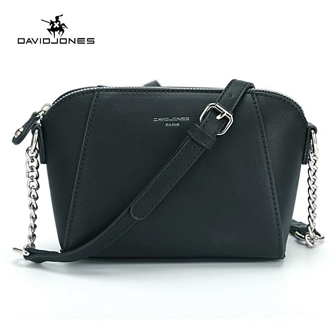 613667944e98 David Jones Women Crossbody Bag Small Messenger Mini Saddle Femal Shoulder  Bags-Black
