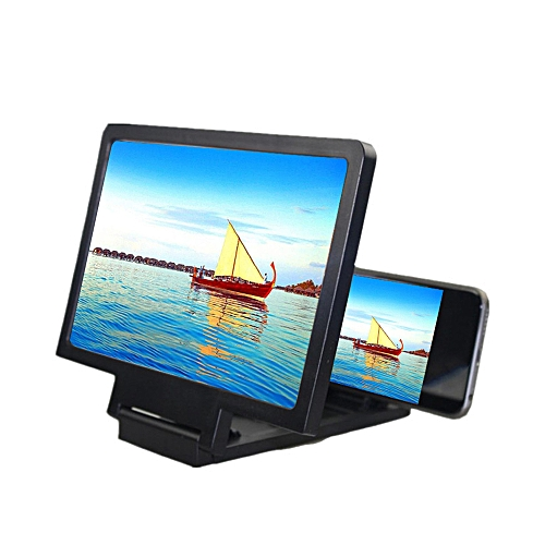 Universal Mobile Phone Screen Magnifier Bracket Enlarge Stand Eyes  Protection Folding 3D Video Screen Display Amplifier Expander Reduce Eye  Fatigue
