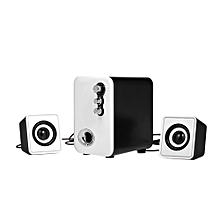 A11 Wired Computer Speakers Mobile Speaker Box Mini Stereo Sound Speaker for Desktop Laptop Notebook Tablet PC Smart Phone with 3.5mm Audio and USB Jack