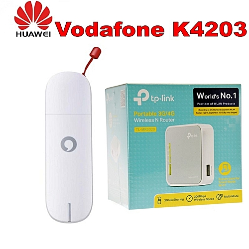 Vodafone 3G USB Huawei K4203 Mobile Broadband Modem Dongle + TP-Link  TL-MR3020 150 Mbps 1-Port 10/100 Wireless N Router