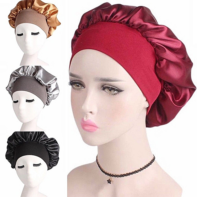 b2c67339e3c Satin Cap For Sleeping. fashion silky feeling 100 polyester satin ...