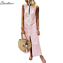 Women Ladies Lace Boho Long Sleeve Party Evening Cocktail Prom Maxi Long Dress