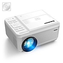 800 x 480 Projector DVD Player 2 HiFi Speakers Low Noise Disk HDMI - White