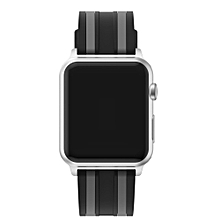 Sports Silicone Bracelet Strap Band For Apple Watch Series 1/2 38MM -Black