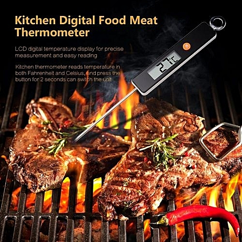 Generic Digital Instant Read Food Meat Thermometer Kitchen Cooking BBQ Grill Temperature Measure Black