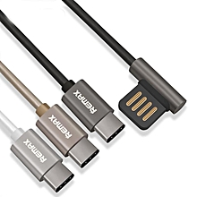 REMAX type c USB c Data Cable Portable 90 Degree Dual USB C Durable Charger Cable Line for 5X 6P G5 USB-C Charger DIOKKC