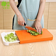 Chopping Board 2 in 1 With Drain Storage Tray