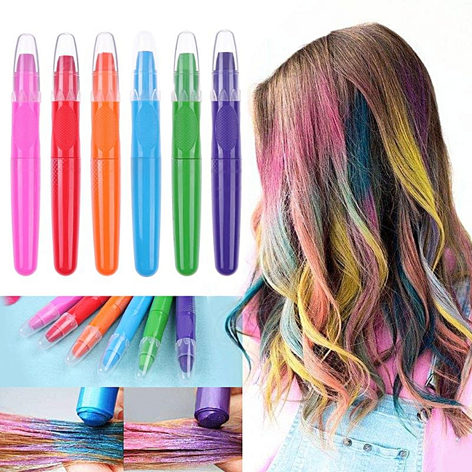 Disposable Temporary Hair Dye Chalk Professional Crayons Hair Color Chalk  Pastel Party Uni Women Hair Dyeing Tool Salon Use(Purple)