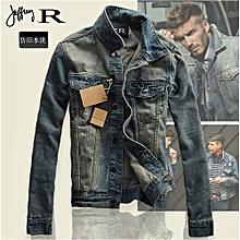 Men's Hot Sale Men's Slim Fit Classic Retro Thicken Coat Denim Jacket Lapel Outerwear