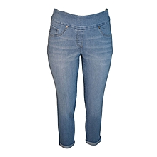 Swiss Indigo Straight Leg Pull On Pants