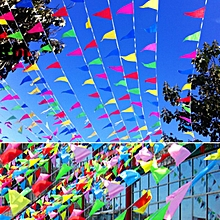 50M 150 PCS Triangle Flag Pennant String Banner Buntings Festival Party Holiday Decor