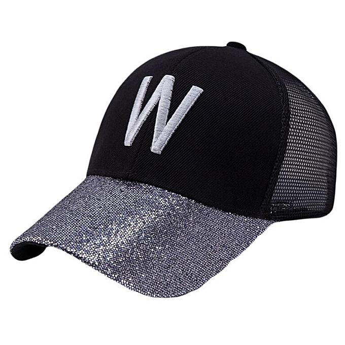 f36ba69bbf6301 snowshine4 # N03 Fashion Gold Women Adjustable Baseball Hat Mens Letter  Pattern Sequins Hip-Hop