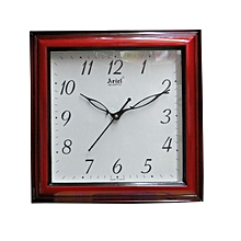 Quartz Wall Clock Square - Cherry