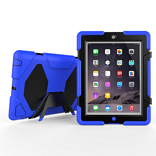 best website 1b21a d2f66 iPad 2 / iPad 3 / iPad 4 Case Three Layer Shockproof Heavy Duty Soft  Silicone TPU PC Case with Stand Kickstand Cover for iPad 2 / 3 / 4  (9.7