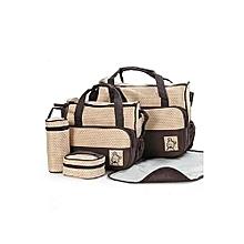 5 in 1 Diaper Bag- Brown