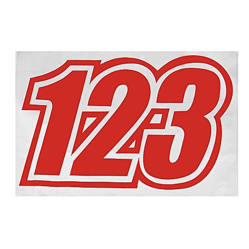 Custom Race Numbers Vinyl Stickers Dirt Bike Motocross Trials Decals Red
