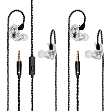 QKZ VK1 Colorful 4DD In Ear Earphone Hybrid Headset HIFI Bass Noise Cancelling Earbuds