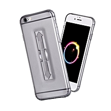4.7 Inch TPU Phone Cover With Ring Bucket For IPhone 6 / 6s (GRAY)