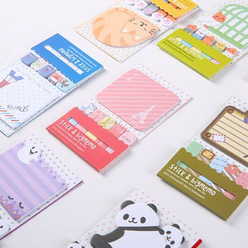 image about Planner Supplies called Panda Planner Elements Sticky Pad Memo Notes Stickers