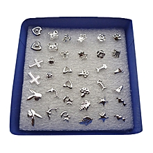 33b5f803b 24Pairs/Set Wholesale Girl Mixed Shape Allergy Earring Stud Pin Lots Fashion  ( Color: