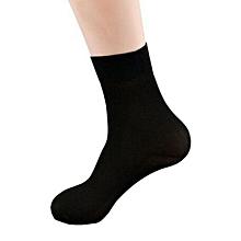 20 Pairs Men's Short Bamboo Fiber Socks Stockings Soft Middle Socks Black
