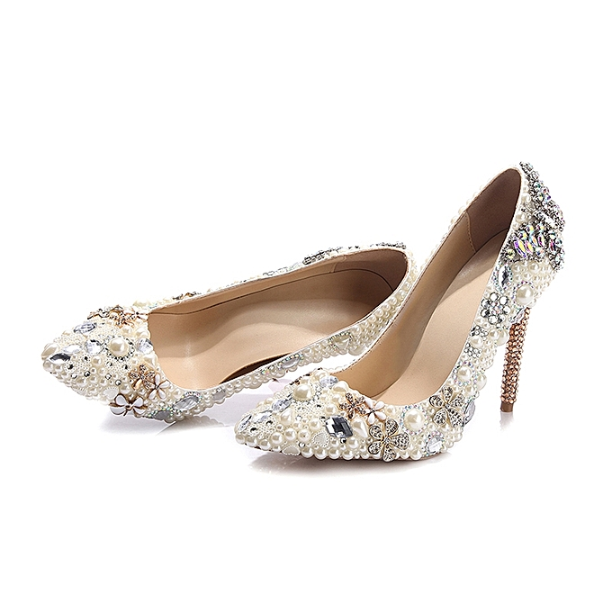 Generic Pointed Toe Heels Bridal Shoes Wedding Woman Shoes