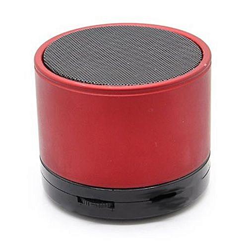 Mini Bluetooth Wireless Stereo Speakers FM, Memory Card, Bluetooth, USB - Red