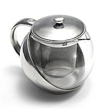 500ml Glass Teapot Herbal Tea Leaf Infuser Filter (Stainless Steel)