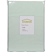 Fitted Sheet - Single - 120cm x 200cm - 144 Polycotton - Light Green