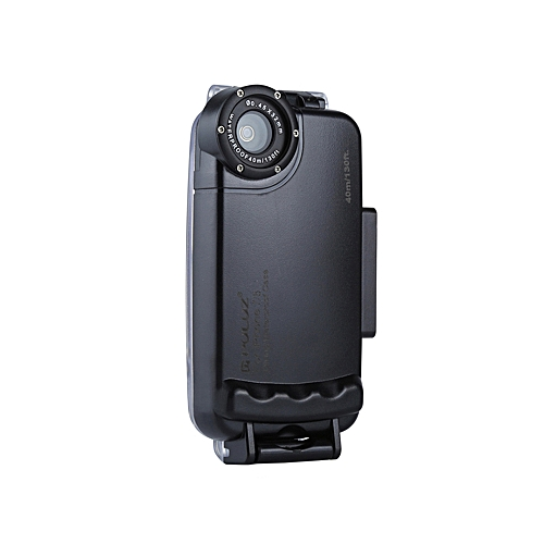 buy popular 28be2 184b5 PULUZ for iPhone 7 & 8 40m/130ft Waterproof Diving Housing Case for Surfing  Swimming Photo Video Taking Underwater Cover (Black)