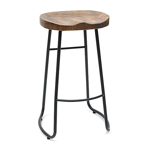Vintage Tractor Bar Stool Retro Barstool Dining Chair 75cm Wood