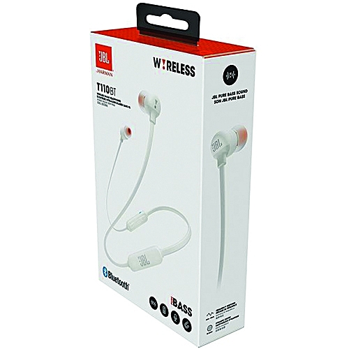 883b0dff07c JBL In-Ear Bluetooth Headphones T110BT White @ Best Price Online ...