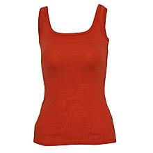 Women Orange Stretch Camisole Vest