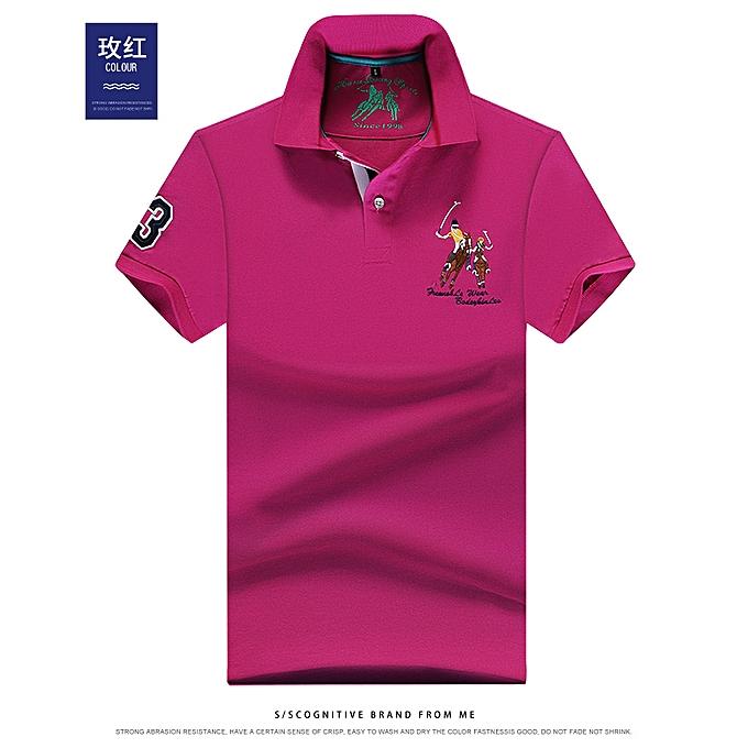 Men's casual lapel embroidery T-shirt Xi781
