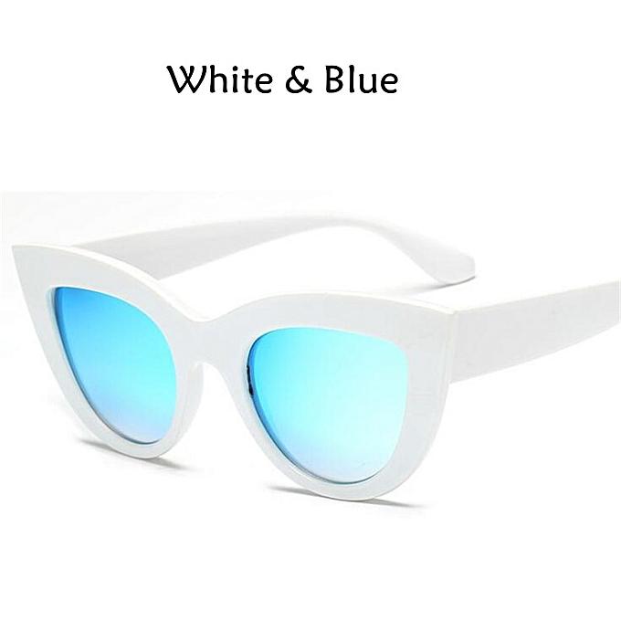 42757d813 New Cat Eye Women Sunglasses Tinted Color Lens Men Vintage Shaped Sun  Glasses Female Eyewear Blue