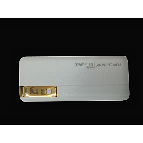 20000mAh powerbank With LED light - White And Gold